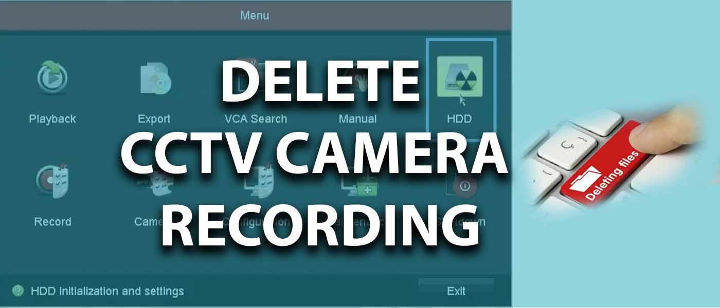 پاک کردن حافظه دوربین مداربسته